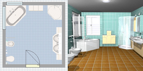 Salle de bain en 3d les logiciels en ligne et leur fonctionnement - Amenagement salle de bain 3d ...