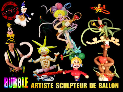 bubble artiste sculpteur de ballons bordeaux. Black Bedroom Furniture Sets. Home Design Ideas