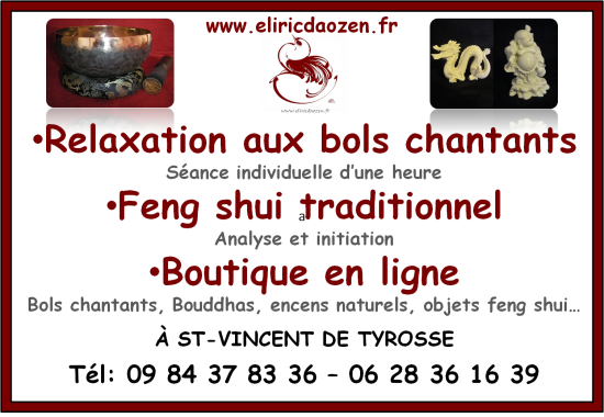 professeur de feng shui traditionnel relaxation aux bols chantants eliric dao zen saint. Black Bedroom Furniture Sets. Home Design Ideas
